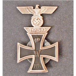 GERMAN NAZI IRON CROSS W/ 1ST CLASS CLASP
