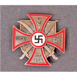 GERMAN NAZI RUSSIAN COSSACKS BADGE