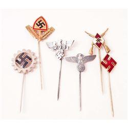 LOT OF 6 GERMAN NAZI STICK PINS