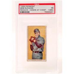 T206 PIEDMONT BOB RHODES BASEBALL CARD - PSA PR1