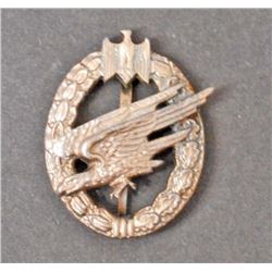 GERMAN NAZI ARMY PARATROOPER BADGE
