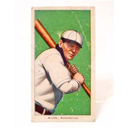 1909-11 T206 PIEDMONT BASEBALL CARD - MILAN, WASHINGTON SENATORS