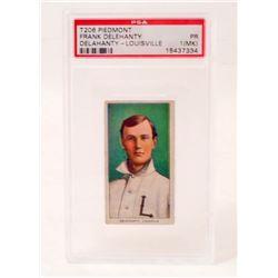 T206 PIEDMONT FRANK DELEHANTY BASEBALL CARD - PSA PR1