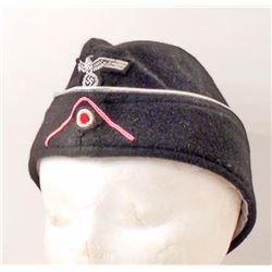 GERMAN NAZI PANZER OFFICER OVERSEAS CAP