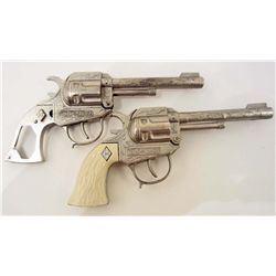 LOT OF 2 VINTAGE HUBLEY TEXAS RANGER TOY CAP GUNS