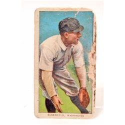 1909-11 T206 POLAR BEAR BASEBALL CARD - ELBERFELD, WASHINGTON SENATORS