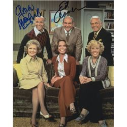 Ed Asner & Gavin MacLeod Signed Cast Photo from The Mary Tyler Moore Show