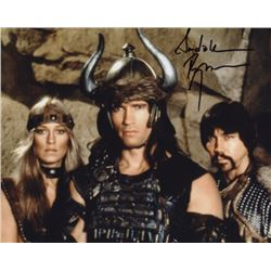 Sandahl Bergman Signed Photo as Valeria with Arnold Schwarzenegger from Conan the Barbarian