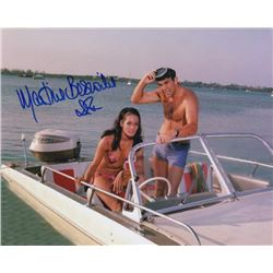 Bond Girl Martine Beswick Signed Photo with Sean Connery from Thunderbolt