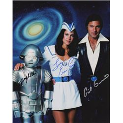 Buck Rogers in the 25th Century Cast Photo Signed by Gil Gerard, Erin Gray & Felix Silla