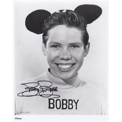 Bobby Burgess Signed Mickey Mouse Club Mouseketeer Photo