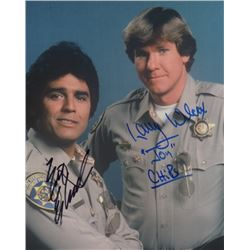 Erik Estrada & Larry Wilcox Signed Photo from CHiPs