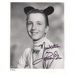 Tommy Cole Signed Mousketeer Photo from The Mickey Mouse Club