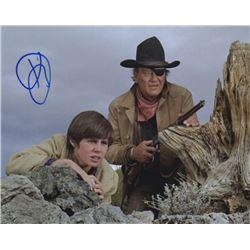 Kim Darby Signed Photo as Mattie Ross with John Wayne from True Grit