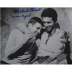 Michael Forest Signed Photo with Leonard Nimoy from Deathwatch