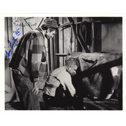 Eddie Albert & Tom Lester Signed Photo from Green Acres