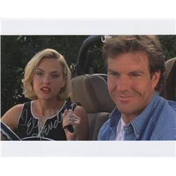 Elained Hendrix Signed Photo with Dennis Quaid from The Parent Trap