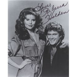Rebecca Holden Signed Photo as April Curtis with David Hasselhoff from Knight Rider