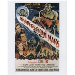 Jimmy Hunt Signed Photo of the Poster for Invaders from Mars