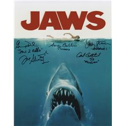 """Jaws 11"""" x 14"""" Cast Signed Photo"""