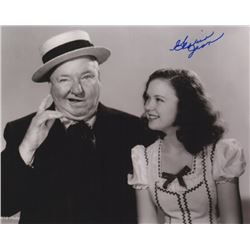 Gloria Jean Signed Photo with W.C. Fields from Never Give a Sucker an Even Break