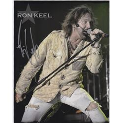 Ron Keel Signed Concert Performance Photo