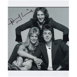 Denny Laine Signed Photo with Wings Band Member Linda & Paul McCartney