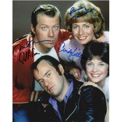 Laverne & Shirley Cast Photo Signed by Penny Marshall, Cindy Williams, David Lander & Michael McKean