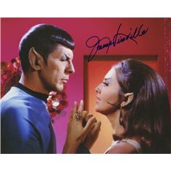 "Joanne Linville Signed Photo with Leonard Nimoy from Star Trek Episode ""The Enterprise Incident"""