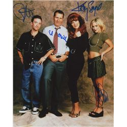 Married with Children Photo Signed by Ed O'Neill, Katey Sagal, Christina Applegate & David Faustino
