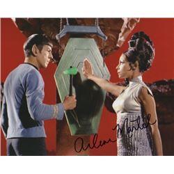 Arlene Martel Signed Photo with Leonard Nimoy from Star Trek
