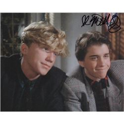 Ilan Mitchell-Smith Signed Photo with Anthony Michael Hall from Weird Science
