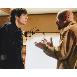 RJ Mitte Signed Photo as Walter White, Jr. with Bryan Cranston from Breaking Bad