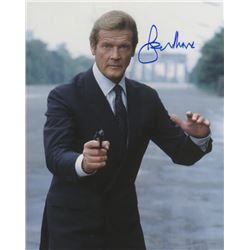 Roger Moore Signed Photo as James Bond