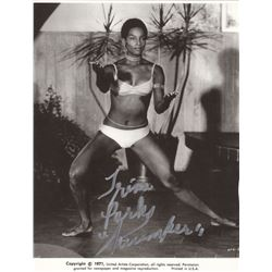 Trina Parks Signed Photo as Thumper from James Bond Diamonds are Forever