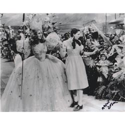 Margaret Pellegrini Signed Photo Still with Judy Garland & Billie Burke from The Wizard of Oz