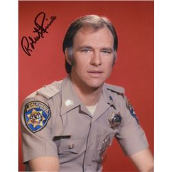 Robert Pine Signed Photo as Sgt. Joseph Getraer from CHiPs