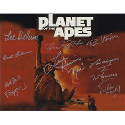 """Planet of the Apes 11"""" x 14"""" Cast of 10 Signed Photo"""