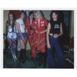 The Runaways Band Photo Signed by Lita Ford & Cherie Currie
