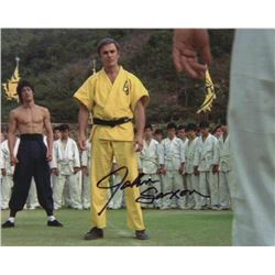 John Saxon Signed Photo Still with Bruce Lee from Enter the Dragon