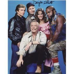 Dwight Schultz Signed A-Team Cast Photo