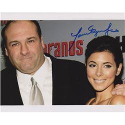 Jamie-Lynn Sigler Signed Photo with James Gandolfini from The Sopranos