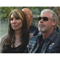 "Ron Perlman & Katey Sagal 11"" x 14"" Signed Photo from Sons of Anarchy"