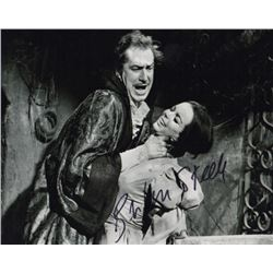 Barbara Steele Signed Photo Still with Vincent Price from Pit and the Pendulum
