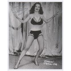 Burlesque Star Tempest Storm Signed Photo