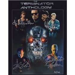 """Terminator Anthology 11"""" x 14"""" Photo Signed by 5 Cast Members"""
