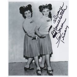 Doreen Tracey Signed Photo as a Mouseketeer with Annette Funicello from The Mickey Mouse Club