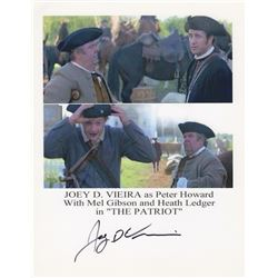 Joey D. Vieira Signed Photo Print with Mel Gibson & Heath Ledger from The Patriot