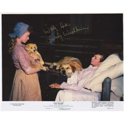 Beverly Washburn Signed Photo with Tommy Kirk from Disney's Old Yeller