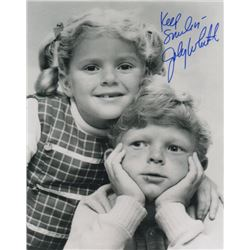 Johnny Whitaker Signed Photo with Anissa Jones from Family Affair